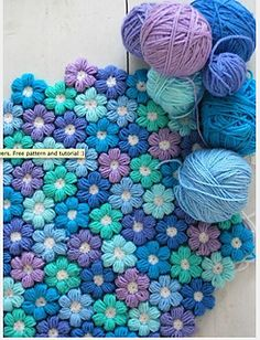 flower blanket - crochet