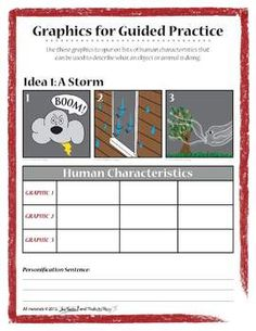 What are the writing strategies? Like personification?