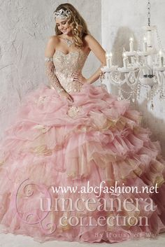 House of Wu Quinceanera Dress Style 26781 is made for Sweet 15 girls who want to look like a beautiful Princess on her special day. Made out of Organza and Metallic Tulle, this quinceanera dress featu