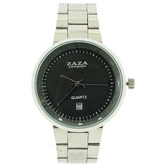 Zaza London Gents Date Grey Dial Silver Tone Metal Strap Dress Watch Stainless Steel Case, Michael Kors Watch, Gifts For Him, Quartz, Dating, London, Watches, Metal, Grey