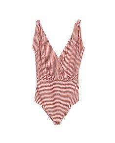 Designer Clothes, Shoes & Bags for Women Striped Linen, Shapewear, Shirt Blouses, Shirts, Bodysuit, Rompers, One Piece, Swimwear, Model