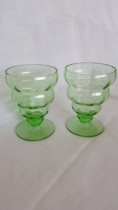Check out this item in my Etsy shop https://www.etsy.com/listing/538756033/vintage-fostoria-green-optic