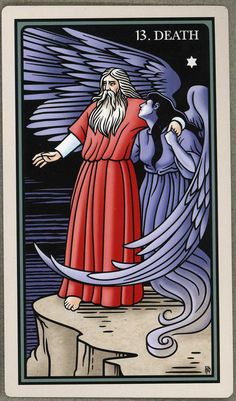 Moses surrenders to Death before entering the promised land. Major Arcana Cards, Tarot Major Arcana, Tarot Card Decks, Tarot Cards, Tarot Death, Promised Land, Deck Of Cards, Artwork, Work Of Art