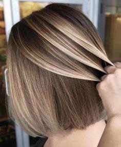 Bronde+Balayage+For+Straight+Shorter+Hair