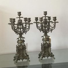 Pair of Bronze 19th-Century French Candelabras – BMA At Home