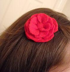 Babyfingers: How to make a no-sew, no-glue sweater flower hair clip