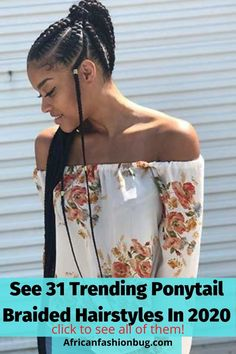 Simple Ponytails, Types Of Braids, Feed In Braid, Braided Hairstyles For Black Women, Braided Ponytail, Braid Styles, Pretty Cool, Hair Trends, Lady