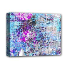 """Graffiti+Splatter+Deluxe+Canvas+14""""+x+11""""+(Framed)+Deluxe+Canvas+14""""+x+11""""+(Stretched)"""