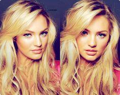 Candice Swanepoel - hair, makeup - love it