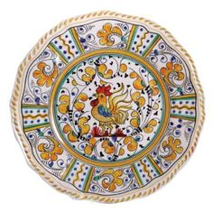 Yellow Rooster Le Cadeaux Melamine Dinnerware, Dinner Plate: Amazon.com: Kitchen & Dining