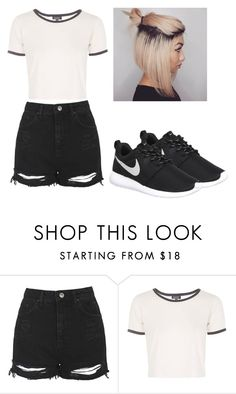 """""""clothing for NALD"""" by kijannakap on Polyvore featuring Topshop and NIKE"""
