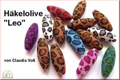 "Instructions for the crochet olive ""Leo"" by Claudia Voß material: seed beads 15/0, wooden olive 43x14mm Description: wood olive 43x14mm, set of patterns and instructions for a crocheted olive in the predator animal design crochet pattern with seed beads 15/0 is after receipt of payment sent by E-Mail attention NO shipping/ download EMAIL for customers outside EU countries! Other Internationals can order the items only in paper form.•°•° Anleitung für die Häkelolive ""Leo"" von Claudia Voß…"
