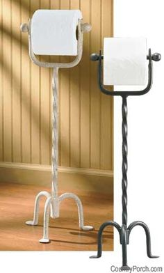 Standing Toilet Tissue Holder THIS WOULD BE COOL FOR THE BATHROOM!