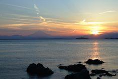 葉山。沈みゆく夕陽。 Hayama,Sunset