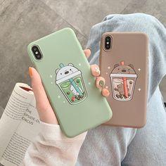 New Cute Boba Phone Case For iPhone - KUMA Stationery & Crafts Kawaii Phone Case, Girly Phone Cases, Pretty Iphone Cases, Art Phone Cases, Diy Phone Case, Tumblr Phone Case, Phone Cover, Iphone 7, Coque Iphone