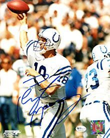 Peyton Manning Autographed / Signed Throwing the Ball 8x10 Photo - Indianapolis Colts - iDealSports