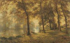 River Landscape Albert Gabriel Rigolot(French, 1862–1932) Oil on canvas, 81 x 130.3 cm.