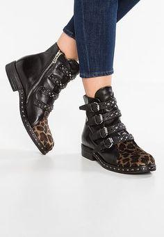 Cowboy/Biker boots - corteccia/nero