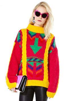 True Colors Sweater #vintage #nastygalvintage