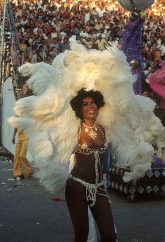 BRAZIL. Rio de Janeiro. 1980. Carnival. Samba school dancer.    © Bruno Barbey