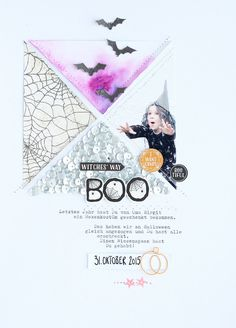 Halloween Scrapbook Page | 8.5 X11 Scrapbooking Layout | Creative Scrapbooker Magazine #halloween #scrapbooking #8.5X11layout