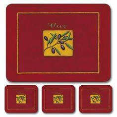 """Jason Oliviano Coasters - Set of 6 by Jason. $15.95. Hardboard, Cork backed. Heat resistant to 225ºF. Durable, heat sealed surface. Size: 4.5"""" x 3.75"""". Single image design. Gift Boxed. Attractive top quality placemats by Jason of New Zealand. The hardboard and cork is sourced from renewable resources. The edges are heat sealed, the surface is smooth and the cork backing will protect your table. Just wipe clean with a damp cloth."""