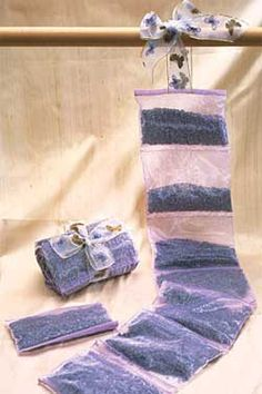 Scent your travel bag with relaxing lavender, Lavender Sachet-by-the-Yard, IsabellaCatalog.com