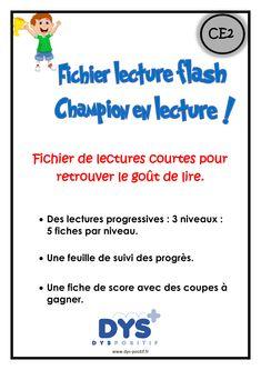 Lectures adaptées, niveau CE2, pour apprendre à lire comme un champion.