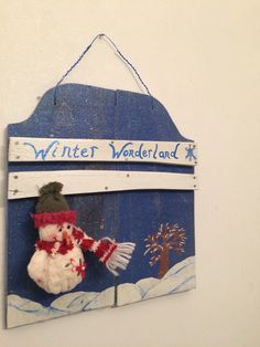 A personal favorite from my Etsy shop https://www.etsy.com/listing/256854577/winter-wonderland-snowman-sign