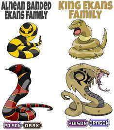 Ekans Family by ajkent14z