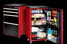 Small Refrigerator For Man Cave : Manly bedroom refrigerators nightstands tables and men cave