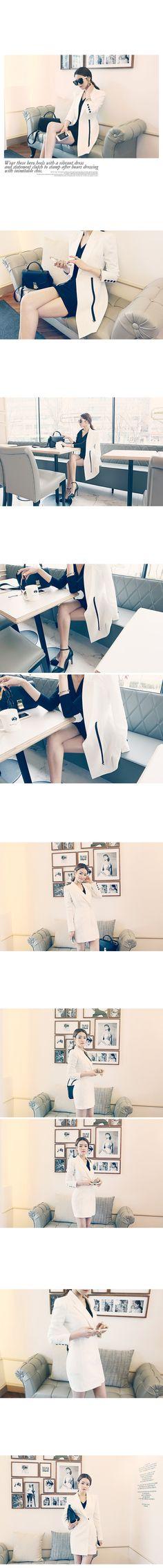 韓国ファッション DABAgirl(ダバガール) シンプルロングジャケット