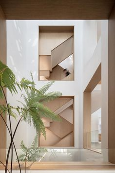 liang architecture inserts a light-filled atrium into apartment renovation in china Patio Interior, Interior Design, Modern Interior, Latest House Designs, Apartment Renovation, Modern Staircase, Glass Roof, Lighting Design, Interior Architecture