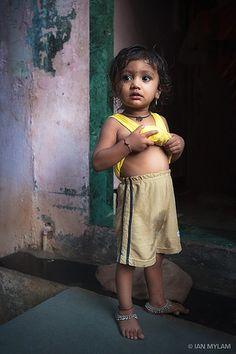 Dharavi Slum Child, Mumbai