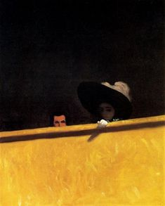 Box Seats at the Theater, the Gentleman and the Lady, Felix Vallotton [1909]