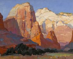 "Franz Bischoff - ""Pinnacle Rock"". Could stare at the brushwork and color in the this one all day - so much energy."