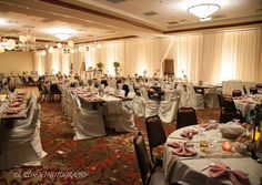 ivory pipe and drape and uplighting by table 4 decor