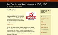 In line with being able to access state and government services from your computer, Intuit TurboTax does what the internet is supposed to do and connects you to the IRS through a technological medium that didn't previously exist....http://turbochargemytaxrefund.com/intuit-turbotax