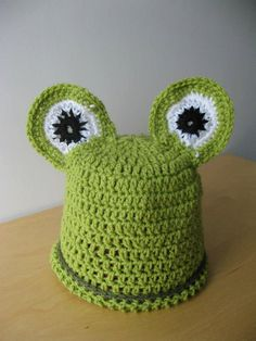 Fantastic Frog Baby Hat by coriescrafts on Etsy, $15.00