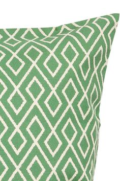 Patterned cushion cover - White/Green - Home All | H&M GB