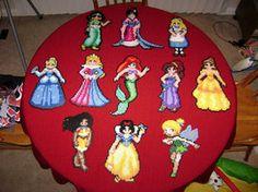 Perler Bead: Princesses by ~thewiredslain on deviantART