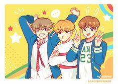 maknae line fanart // v & jimin & jungkook // bts Jimin Jungkook, Taehyung, Smut Fanart, Kpop Fanart, Vmin, K Pop, Bts Anime, Bts Maknae Line, Dibujos Cute