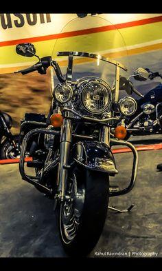 Harley-Davidson FAT BOY motorcycle sticker collage BN Craft