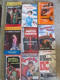 VINTAGE LOT OF 9 PULP FICTION PAPERBACK BOOKS 1930'S 40'S (E102)