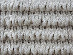 The Tunnel Stitch is based on the Fur Stitch. It takes its name after the tunnel rows formed by loops made on the right side rows.