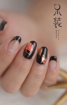 紅葉 | nail salon sou-sou Zodiac, Projects To Try, Nail Art, Hands, Nail Arts