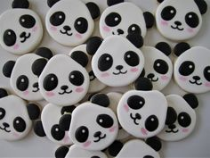 Made-to-order custom cookies for any occasion by FingerhutCakes Panda Party Favors, Panda Birthday Party, Birthday Parties, 2nd Birthday, Happy Birthday, Almond Sugar Cookies, Sugar Cookie Royal Icing, Icing Colors, Biscuits