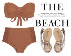 """The Beach"" by fra3 ❤ liked on Polyvore featuring Tori Praver Swimwear, H&M and L*Space"