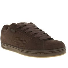 Etnies Dark Brown Kingpin Mens Trainers If youre looking for the top dog in skate shoes, then this really is the Kingpin. Etnies dark brown silhouette features a sturdy upper with heavily padded ankle cuff and tongue, with perforations for  http://www.MightGet.com/january-2017-13/etnies-dark-brown-kingpin-mens-trainers.asp
