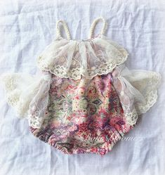 Baby Girl Romper baby girl clothes baby romper photography